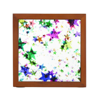 Multi Colored Stars Desk Organiser