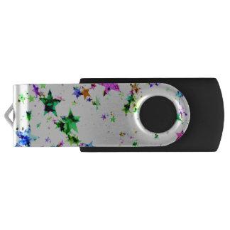 Multi Colored Stars USB Flash Drive