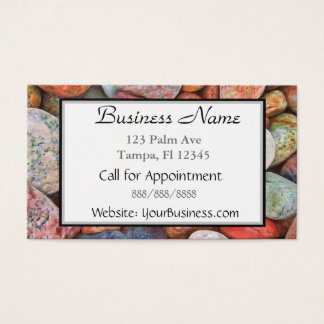 Multi Colored Stones Business Card