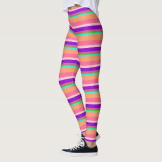 Multi-colored Striped Leggings