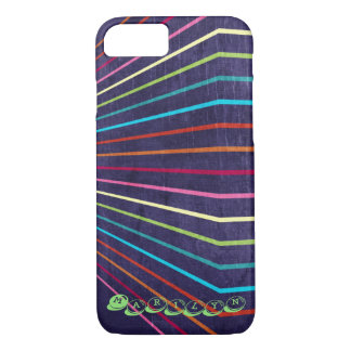 Multi-Colored Stripes on Purple iPhone 8/7 Case