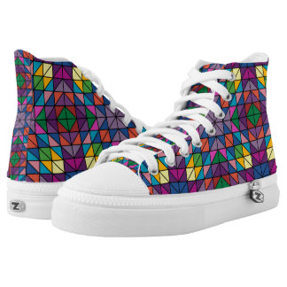 Multi-colored Triangles High Tops