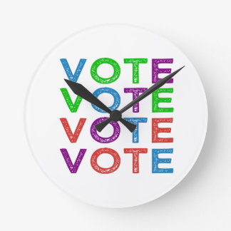Multi-colored VOTE Round Clock