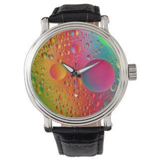 Multi-colored water droplet watch