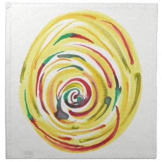 Multi-Colored Watercolor Cloth Dinner Napkins