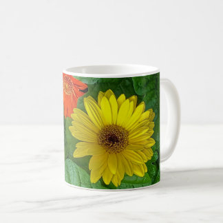 Multi-colored wildflower coffee cup