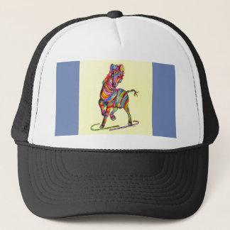 Multi-colored Zebra Trucker Hat