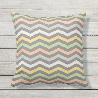 Multi-colored zigzag lines,Chevron -Throw Pillow