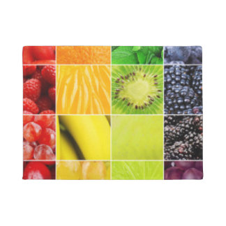 Multi Colorful  Fruit Collage Doormat