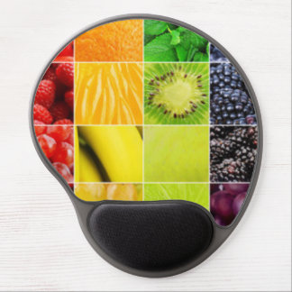 Multi Colorful  Fruit Collage Gel Mouse Pad
