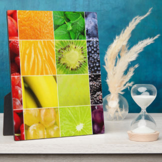 Multi Colorful  Fruit Collage Plaque