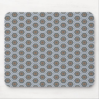 Multi Colors Hexagons. Honeycomb Mesh Pattern. Mouse Pad
