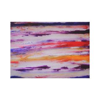 multi-colour art ,blue, red,orange,yellow canvas print