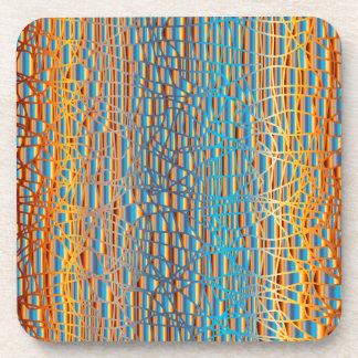 Multi Colour Background Coaster