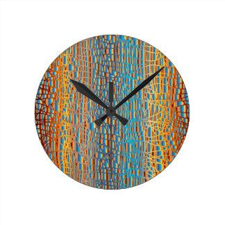 Multi Colour Background Round Clock