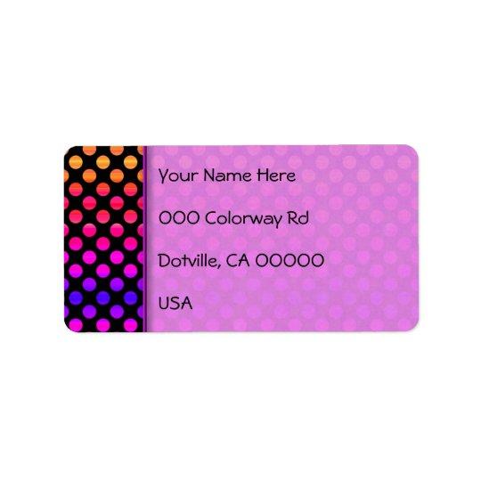 Multi-colour Dots Address Label