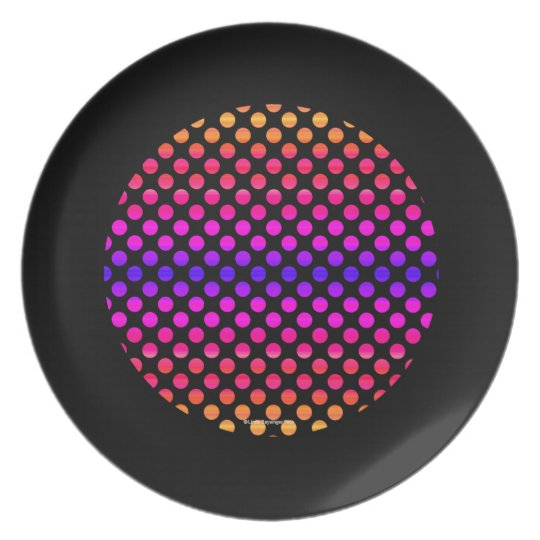 Multi-colour Dots Plate