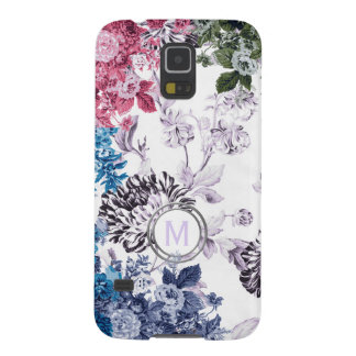Multi Colour Floral Garden Monogram Cases For Galaxy S5