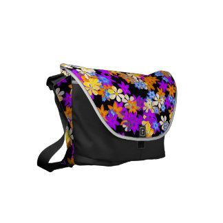 Multi Colour Flower Design Shoulder Bag Courier Bag