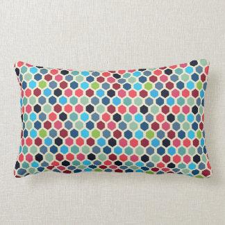 Multi-Colour Geometric Pattern Lumbar Pillow