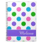 Multi Colour Polka Dots Notebook