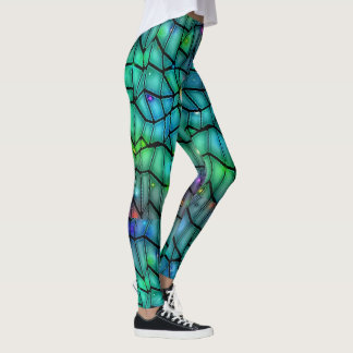 MULTI-COLOUR STAINED GLASS LOOK-LEGGINGS LEGGINGS