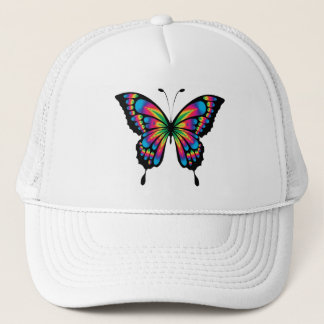 Multi Coloured Butterfly Cap