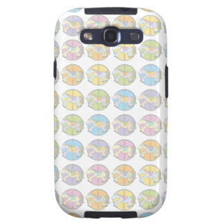 Multi-Coloured Carousel Ponies Galaxy SIII Covers