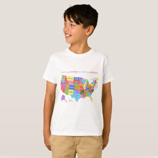 Multi-Coloured Map Of the United States T-Shirt