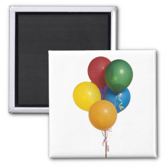 Multi Coloured Party Balloons Magnet