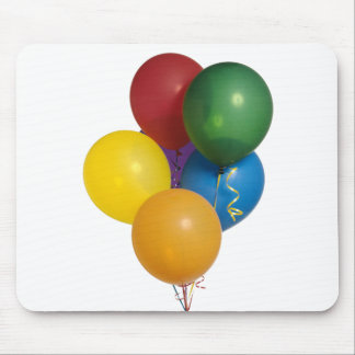 Multi Coloured Party Balloons Mouse Pads