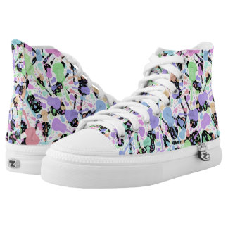 Multi Coloured Pastel Guitar High Tops