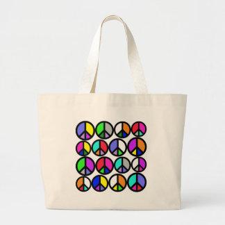 Multi-coloured Peace Symbols Bags