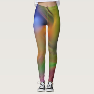 Multi-Coloured Straws Leggings