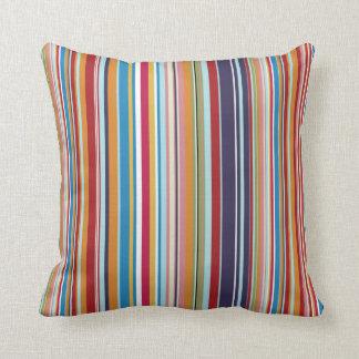 Multi-coloured stripes cushions