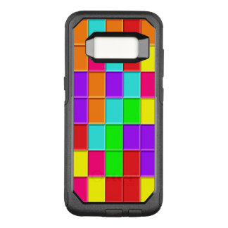 Multi-coloured Taquin Tiles randomly arranged. OtterBox Commuter Samsung Galaxy S8 Case