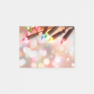 Multi-coloured Twinkle lights, all over print - Post-it Notes