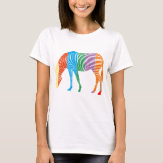 Multi coloured zebra T-Shirt