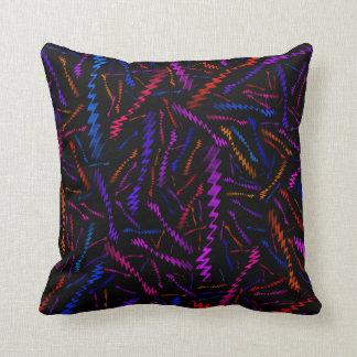 Multi Coloured ZigZags Cushion