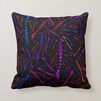 Multi Coloured ZigZags Throw Pillow