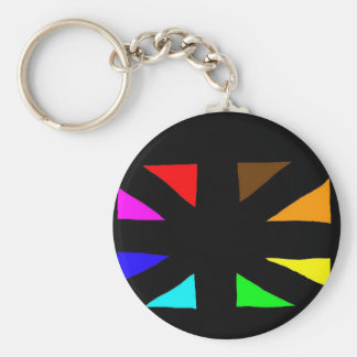 multi-cultural little flag basic round button key ring