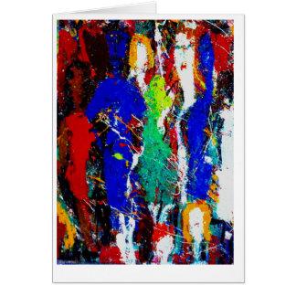 Multi-Cultural Women-Blank Fine Art Greeting Card- Card