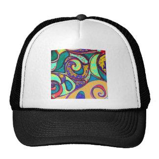 multi doodle trucker hat