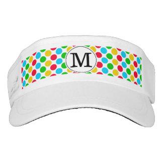 Multi Dot Custom Monogrammed Golf Game Visor