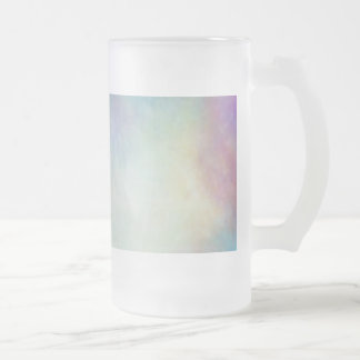 Multi Galaxy Nebula Frosted Glass Beer Mug