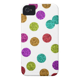 multi glitter dot iPhone case
