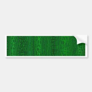 Multi Green Colour Background Bumper Sticker