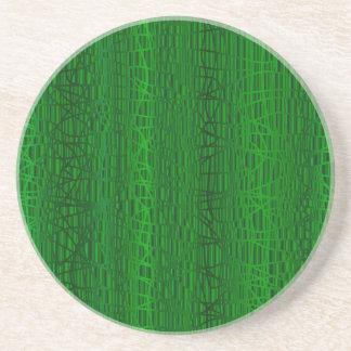 Multi Green Colour Background Coaster