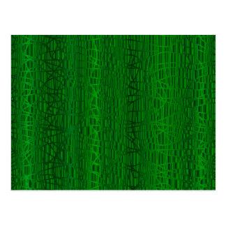 Multi Green Colour Background Postcard