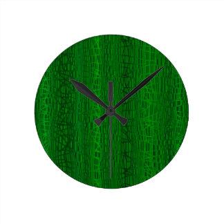 Multi Green Colour Background Round Clock
